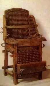 Пыточные кресла: ведьминское, испанское