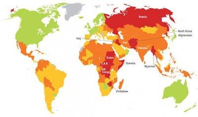 Самые опасные страны